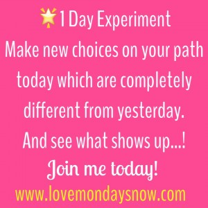 1 Day Experiment - change your path